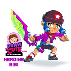Brawl Stars Archives - Draw it cute Super Easy Drawings, Coloring Pages, Stars, Step Guide, Cute, Fictional Characters, Favors, Quote Coloring Pages, Kawaii