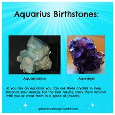 Aquarius Birthstones #Astrology #Aquarius #Aquamarine #Amethyst #Birthstones
