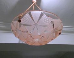 Signed DEGUE French Art Deco Light Fixture  1930s by Decofanatique