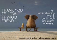 Thank you Thyroid Friend, for understanding what I go through! http://www.stopthethyroidmadness.com