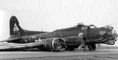B-17 after heavy landing
