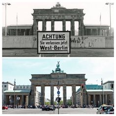 Brandenburger Tor - then & now