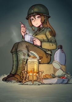 Military Girl, Anime Military, Military Archives, Guerra Anime, Fictional Characters, Ww2, Girls, Anime Art, Old Things