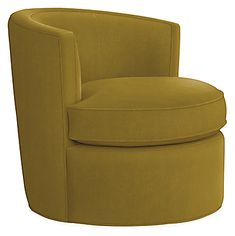 Otis Swivel Chair - - Modern Living Room Furniture - Room & Board Modern Swivel Chair, Leather Swivel Chair, Upholstered Swivel Chairs, Chair And Ottoman, Chair Cushions, Modern Chairs, Modern Armchair, Used Chairs, Parsons Chairs