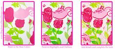 How to Paint Lilly Pulitzer's Delta Zeta Print