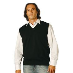 V-Neck Wool/Acrylic Promo Knit Vest Min 25 - Clothing - VESTS is one of our best categories. There are many types of Vests's in the Vests category. Knit Vest, Vests, V Neck, Wool, Knitting, Clothing, Jackets, Fashion, Outfits