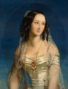 1845 Portrait of Grand Duchess Zinaida Yusupova - Christina Robertson Sujets de Peinture Female Portrait, Portrait Art, Female Art, Old Paintings, Beautiful Paintings, Painted Ladies, Woman Painting, Art History, Art Gallery