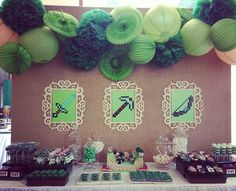 Minecraft Party Minecraft Birthday Party, Man Birthday, Boy Birthday Parties, Birthday Ideas, Video Game Party, Party Games, Cruise Party, Backdrops For Parties, Diy Party Decorations