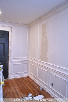 dining room picture frame moulding and trim progress - 1