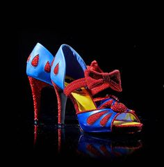 Disney Snow White And The Seven Dwarfs Snow White Heels The fairest heels of them all Snow White Shoes, White Heels, Crazy Shoes, Me Too Shoes, Dream Shoes, Disney Heels, Sock Shoes, Shoes Heels, Shoe Boots