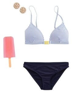 """""""Last beach day"""" by ava-lindsey ❤ liked on Polyvore featuring J.Crew, American Eagle Outfitters and BaubleBar"""