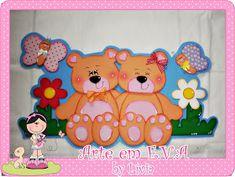 Arte em e.v.a by Lívia: Ursinhos!!!