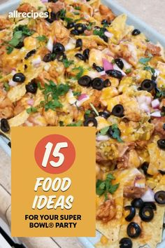 "15 Food Ideas for Your Super Bowl® Party | ""The big game day is right around the corner, so now is the time to start planning your menu for your Super Bowl® party. W\hip up a batch of baked buffalo wings, stuff some peppers, and slather on a little face paint, because it's game time!"" #footballrecipes #gamedayrecipes #tailgatingrecipes #superbowlrecipes #superbowlparty #superbowlpartyideas Baked Potato Dip, Loaded Baked Potatoes, Baked Buffalo Wings, Easy Recipes, Easy Meals, Slow Cooker Bbq, Mini Burgers, Spicy Dishes, Slider Recipes"