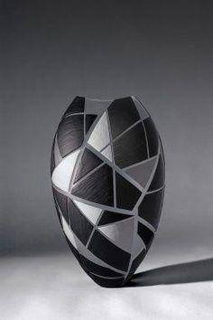 Geometry Jazz Vessel Philip Baldwin Monica Guggisberg Hand Blown Glass Sculpture Installation Commission Color