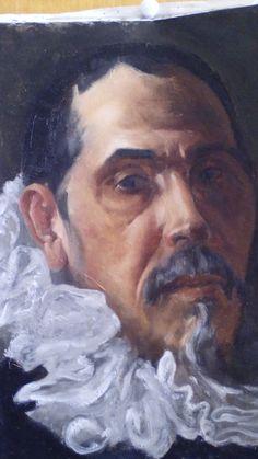 After Velázquez Oil on canvas 45 x 33 For sale
