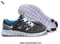 Size 12 443815-108 Cool Grey White Black Varsity Royal Nike Free Run 2 For Sale