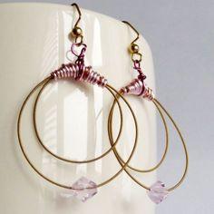 Pink Guitar String Earrings | Shealynns-Faerie-Shoppe - Jewelry on ArtFire