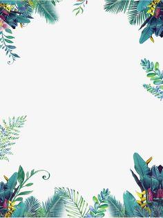 Green summer small fresh border, Summer Border, Summer, Taobao Poster Border PNG and PSD Flower Backgrounds, Flower Wallpaper, Wallpaper Backgrounds, Iphone Wallpaper, Page Borders Design, Border Design, Leaf Border, Floral Border, Plant Painting