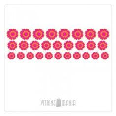 Adesivo de Vitrine Decorativo Flower