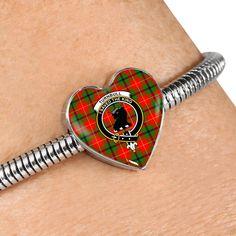 Fraser Of Lovat Tartan Crest Heart Bracelet – Your Tartan Working Mother, Working Moms, Us Patent, Scottish Tartans, Everyday Items, Heart Bracelet, Bangles, Bracelets, Heart Charm