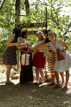 Camp Baby! Roast marshmallows, make friendship bracelets, give out badges and supply camp props to liven group photos at a camp-themed baby shower.