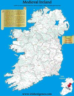 The Surnames of Ireland Map | Irish Origenes: Use Family Tree DNA to Discover Your Genetic Origins | Clans of Ireland | Irish Surnames Map