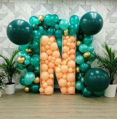 Balloons are decorations that can make any party lively. If you can use balloon decorations at the wedding, you can make your wedding the biggest and coolest pa Wedding Scene, Arch Wedding, Wedding Church, Forest Wedding, Balloon Wedding, Balloon Decorations, Birthday Decorations, Birthday Backdrop, 21st Party Themes
