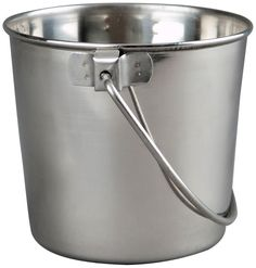 Advance Pet Products Heavy Stainless Steel Round Bucket * Hurry! Check out this great product : Dog bowls