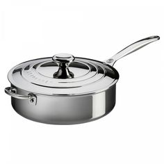 Sautepanne m/lokk 24 cm Steel | Le Creuset