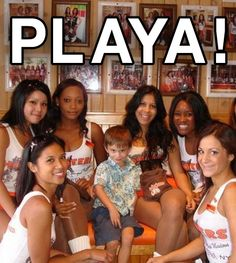 Kid at Hooters restaurant with hoot girls little boy Kid Memes Funny Memes funny pictures dumb crazy people awkward family photos worst tattoos bad tattoos horrible random pics strange bizarre wtf fail stupid people photobombs stupid humor redneck humor weird people pic dump people of walmart bad family weird