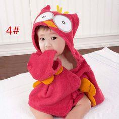 Bebé Niños Animales Cartoon Albornoz Toalla de Baño Romper Algodón Talla 0-2Años | eBay