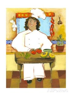 Jolly Mexican Chef Posters by Kris Taylor at AllPosters.com