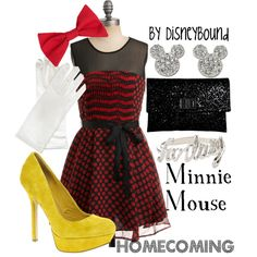"""""""Minnie Mouse"""" by lalakay on Polyvore"""