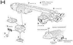 Space 1999 Eagle Blueprints by Keith Young. Detailed and