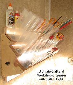 Ultimate Craft And Workshop Organizer With Built In Lights PDF How-to Pattern…