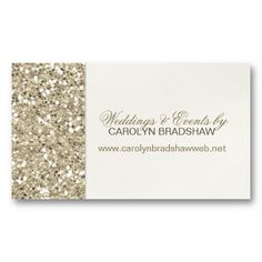 Glitter Glamour Sparkle Gold Business Card