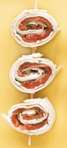 smoked salmon and cucumber pinwheels...this is a must try! i love smoked salmon!