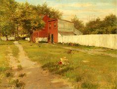 William Merritt Chase - The White Fence 1900