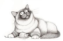 Linnea Riley's cat stamps linneadesign.com