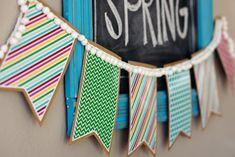 Parti bannière Bunting Rainbow Stripes Lumineux Personnalisé de carnaval fete /& STREET