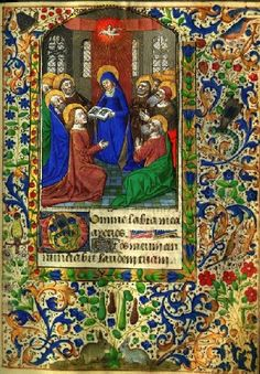illuminated manuscript pages in Book of Hours Images
