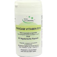 PANGAM Vitamin B15 Kapseln:   Packungsinhalt: 60 St Kapseln PZN: 02164504 Hersteller: G & M Naturwaren Import GmbH & Co. KG Preis: 10,14…