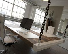 Hanging office table.: