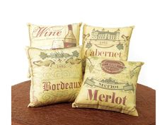 I have found the look for my new family room! And these pillows are key... #winedecor #homebar
