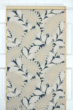 1930's Vintage Wallpaper Ferns and Leaves on by HannahsTreasures