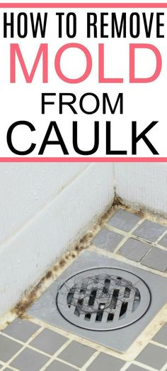 Need to clean moldy shower caulk? Check out this simple tip on how to remove mold from caulk. Clean even black mold easily from your shower and bathroom with these easy tricks. Cleaning Tips How To Remove Mold From Caulk Diy Home Cleaning, Bathroom Cleaning Hacks, Household Cleaning Tips, Homemade Cleaning Products, Cleaning Recipes, House Cleaning Tips, Natural Cleaning Products, Spring Cleaning, Clean House Tips