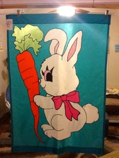 Easter Bunny Large Decorative Flag by FlagsbyKathy on Etsy