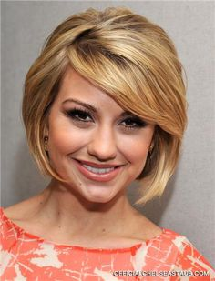After I reach my weight loss goal...I'm cutting my hair like this. Way shorter and more blonde!