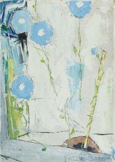 Case with Blue Flowers - Constantin Piliuta Post Impressionism, Impressionist, Colour Pallette, Art Database, Blue Flowers, Flower Art, Painting, Inspiration, Color