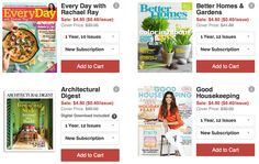 Get a 1 year subscription to one of these great magazines for under $5! #DailyDealByJillee